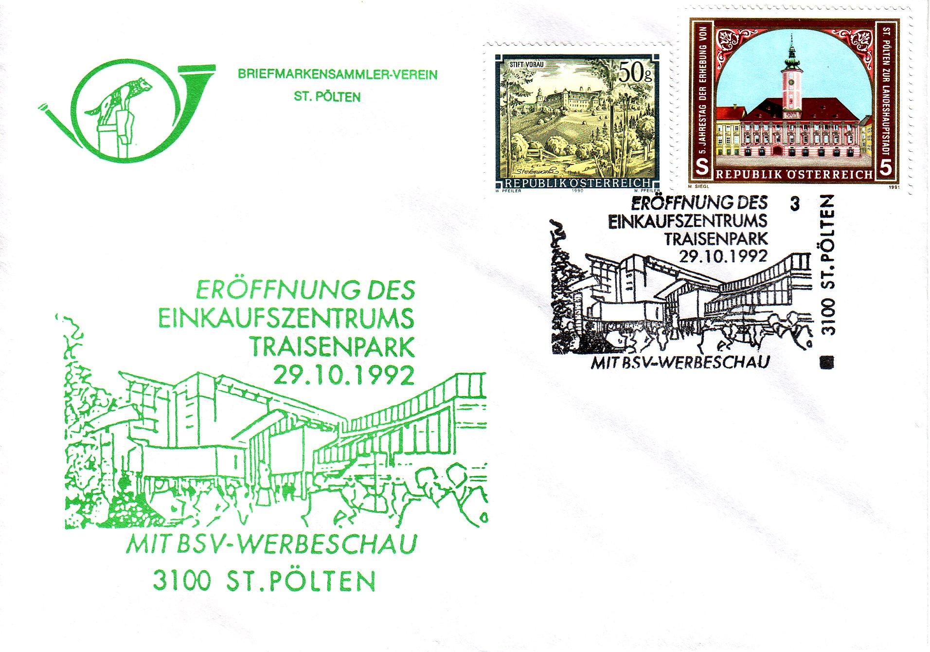 1992 1.-EUR EKZ Traisenpark 29.10