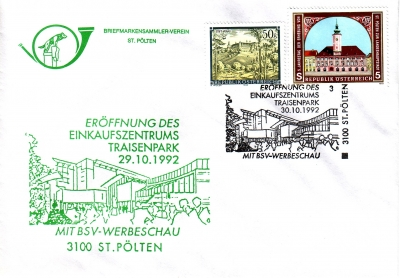 1992 1.-EUR EKZ Traisenpark 30.10