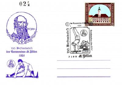 1993 1.-EUR 130Jahre oeTB Karte