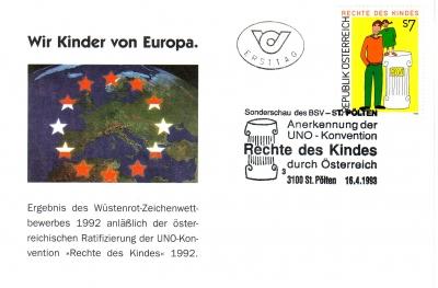 1993 1.-EUR Rechte des Kindes