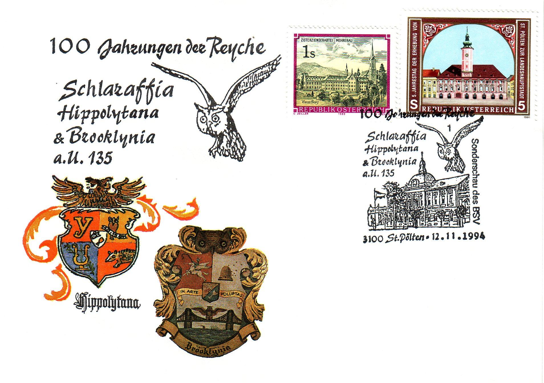 1994 1.-EUR 100 Jahre Schlaraffen