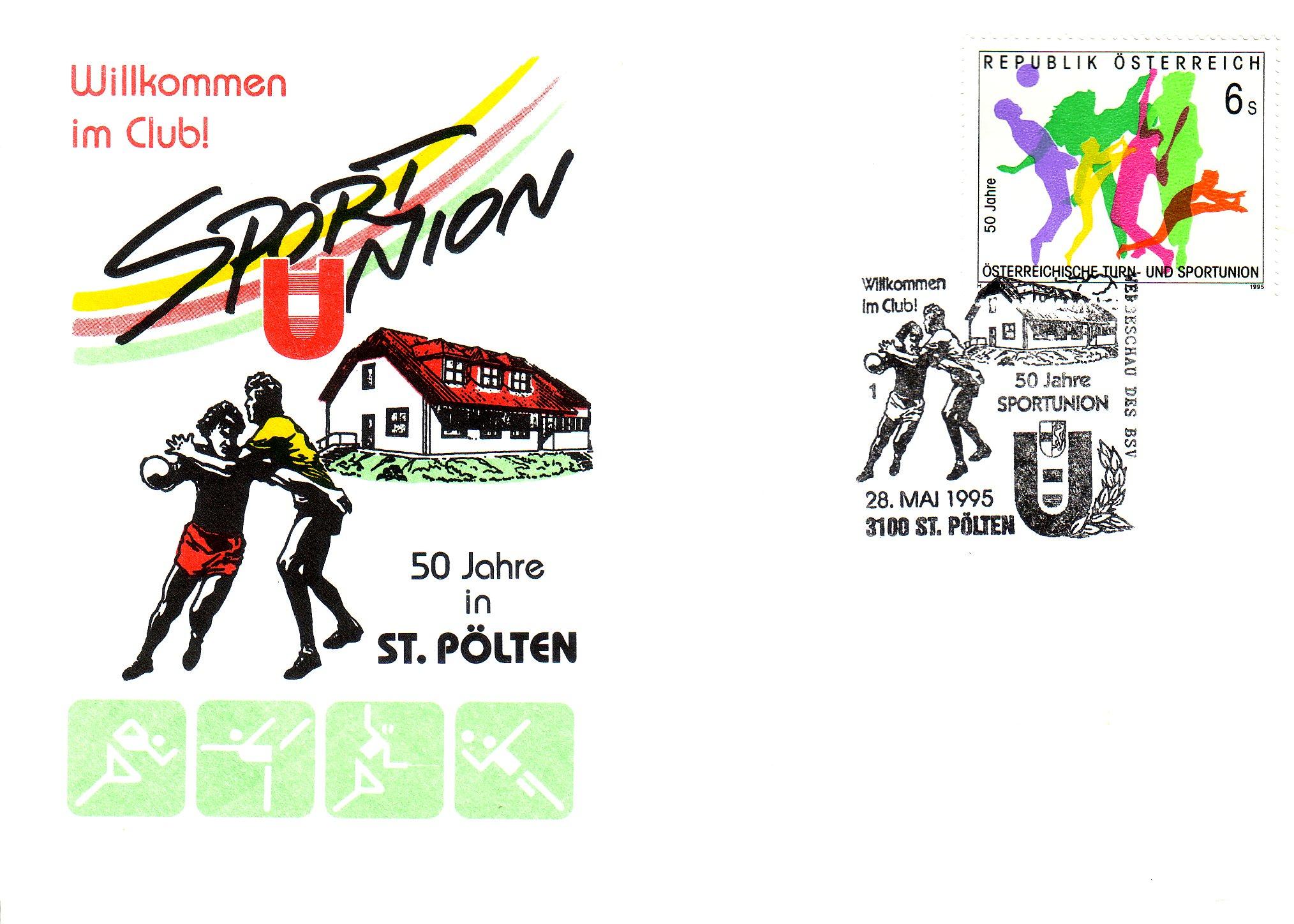 1995 1.-EUR 50 Jahre Sportunion