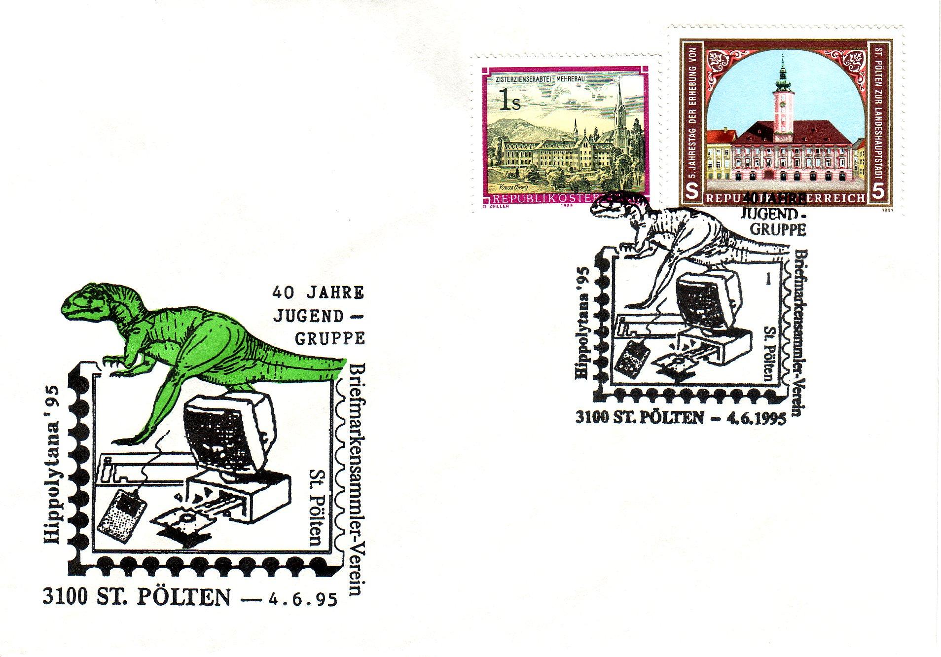 1995 1.-EUR 75 Jahre BSV St.P. 2