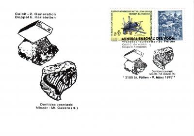 1997 Mineralienschau Belegpreis 1.- EUR