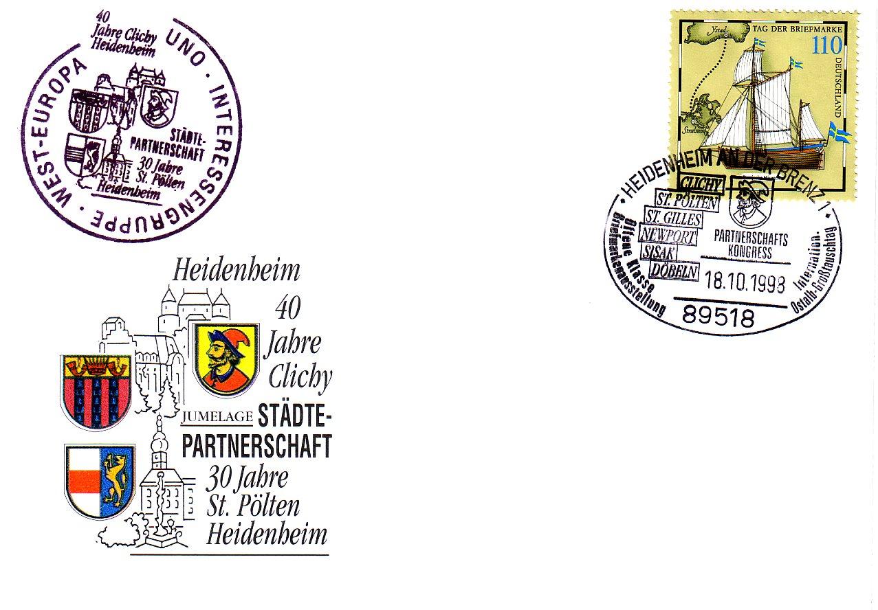 1998 1.-EUR Partnerschaft mit Heidenheim
