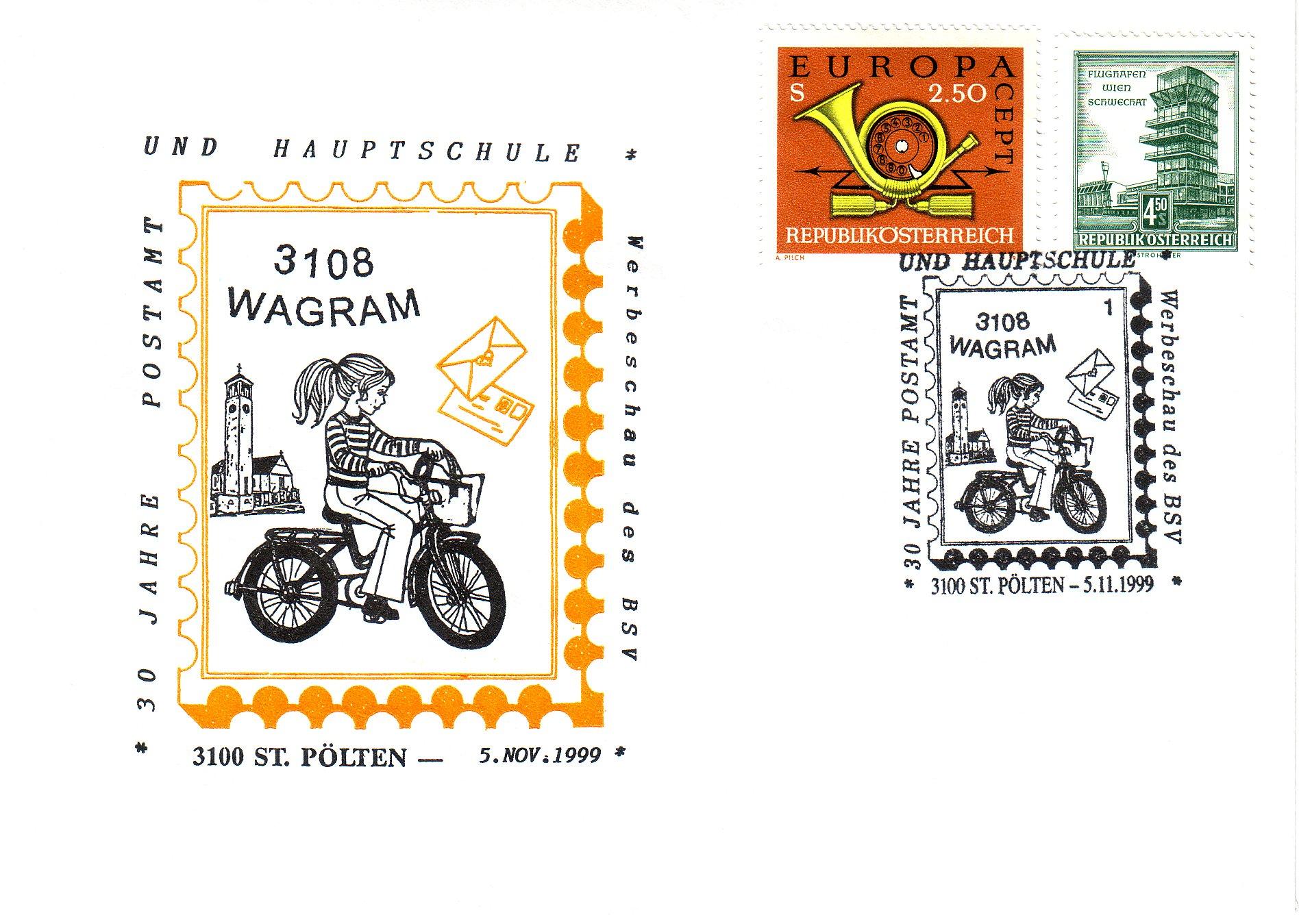 1999 1.-EUR 30 J. Postamt Wagram
