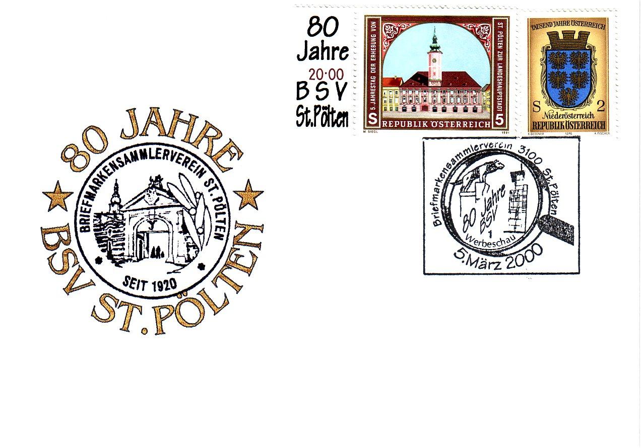 2000 1.-EUR 80 Jahre BSV St.P.