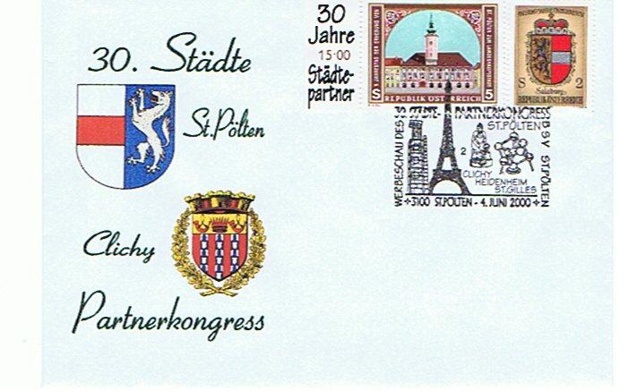 2000 1.-EUR Staedtepartner 2