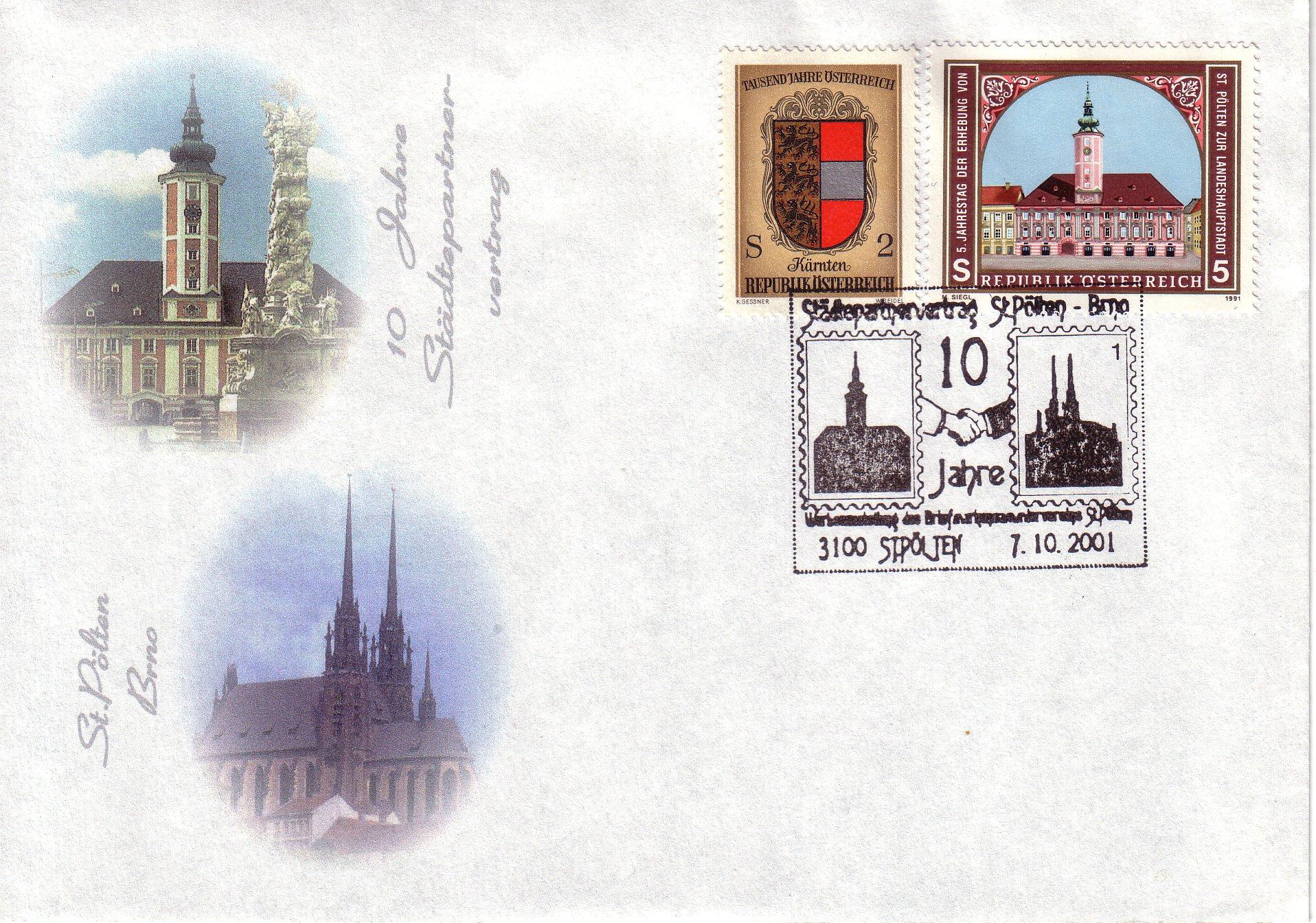 2001 1.-EUR 10 Jahre St.P.-Bruenn