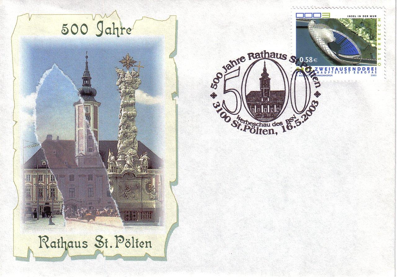 2003 A6 1,50EUR 500 Jahre Rathaus