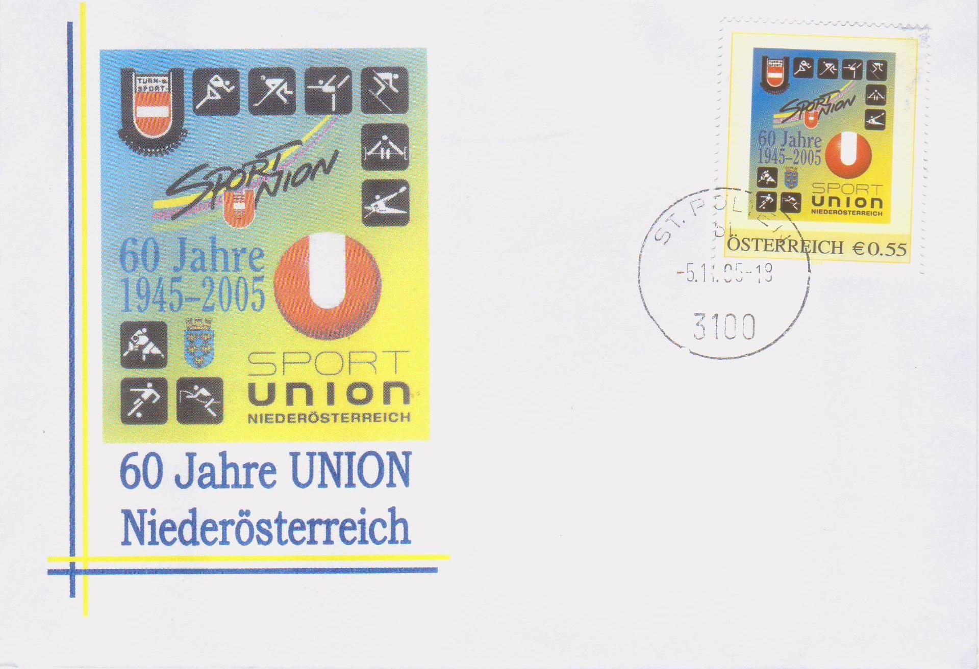 2005 3.-EUR 60 Jahre Sportunion