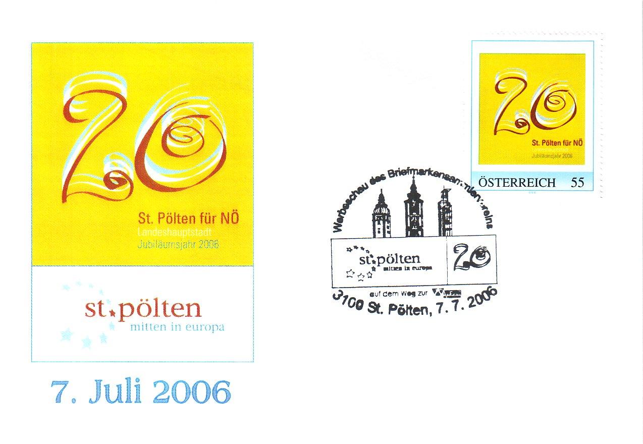 2006 3,50EUR 20 Jahre LH St.Poelten