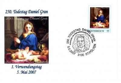 2007 3,50EUR 250.Todestag Daniel Gran