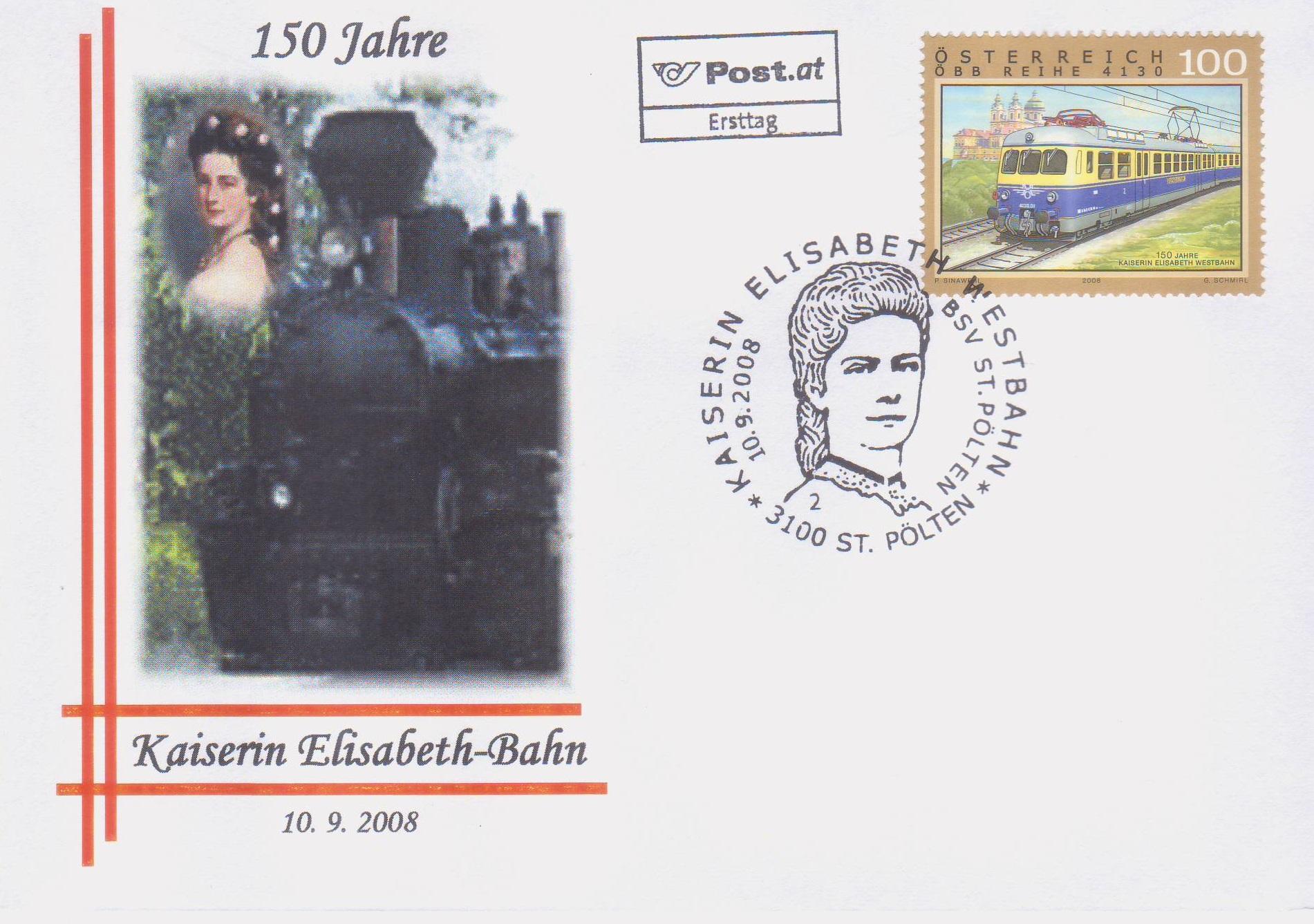 2008 2.-EUR 150 J.Ks.Elisabethbahn