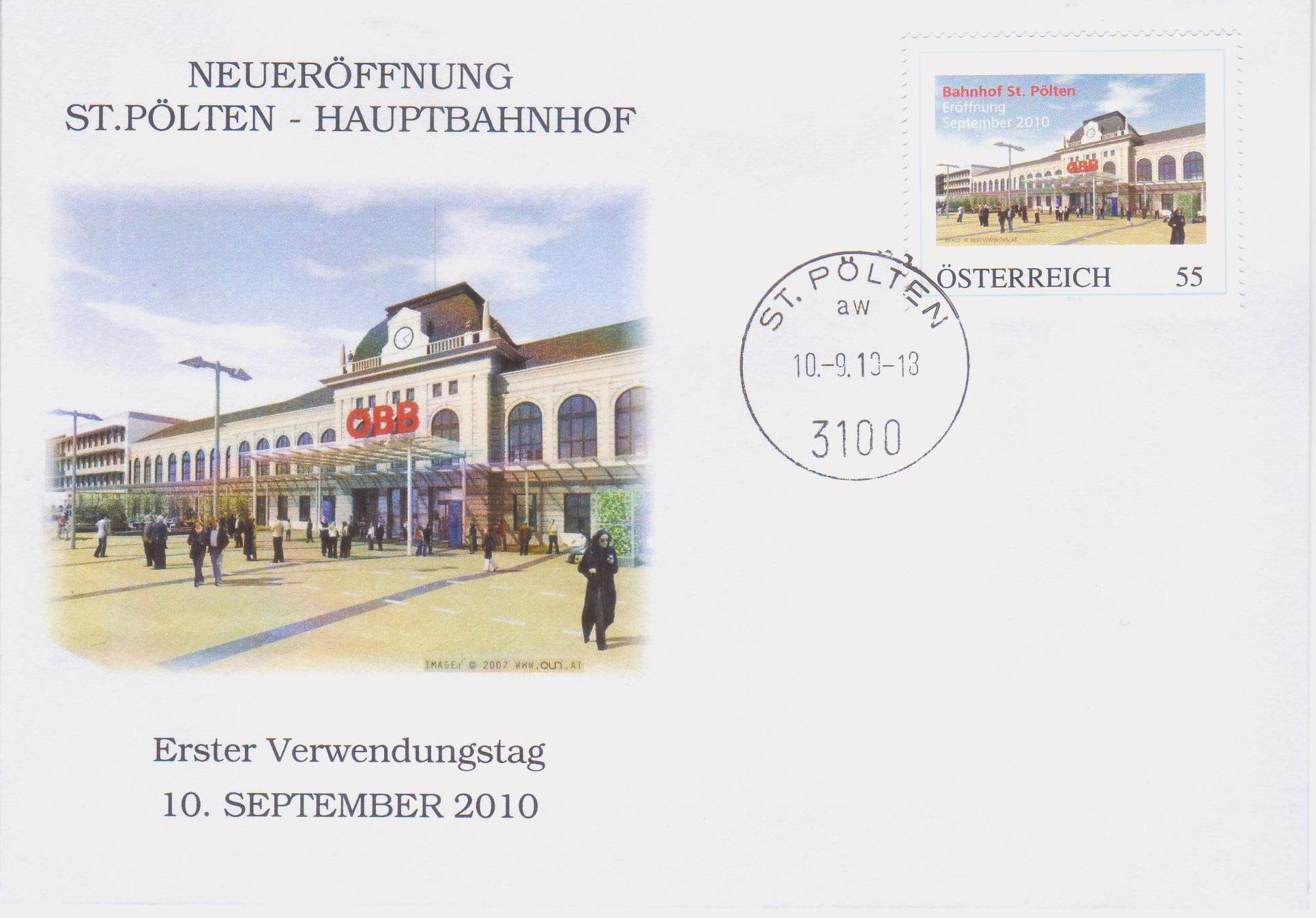 2010 3,50EUR Neueroeffnung Bahnhof