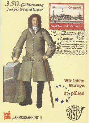 2010 2.-EUR 350.Geb.Prandtauer 1