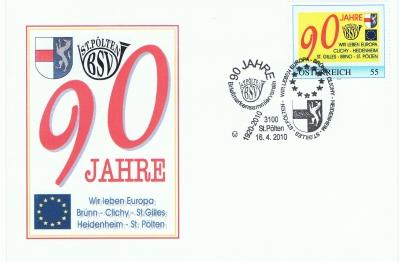 2010 3,50EUR 90 Jahre BSV St.Poelten 1