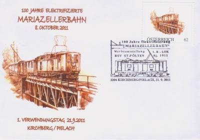 2011 3,50EUR 100 J. el. MZ-Bahn 2