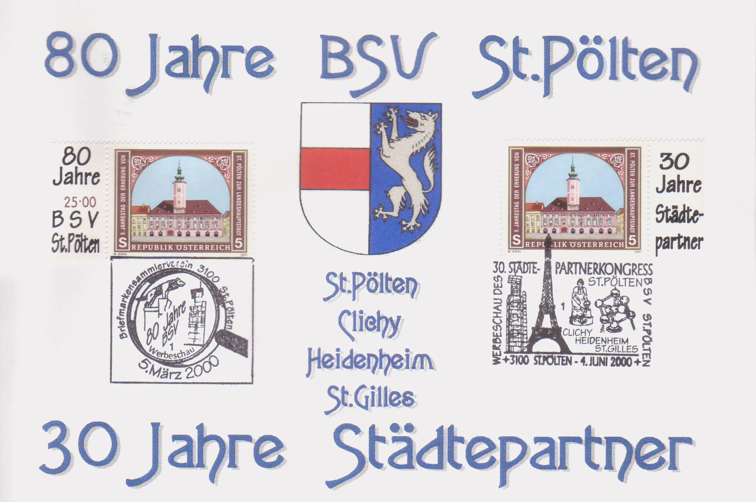 2000 2.-EUR 80 Jahre BSV St.Poelten