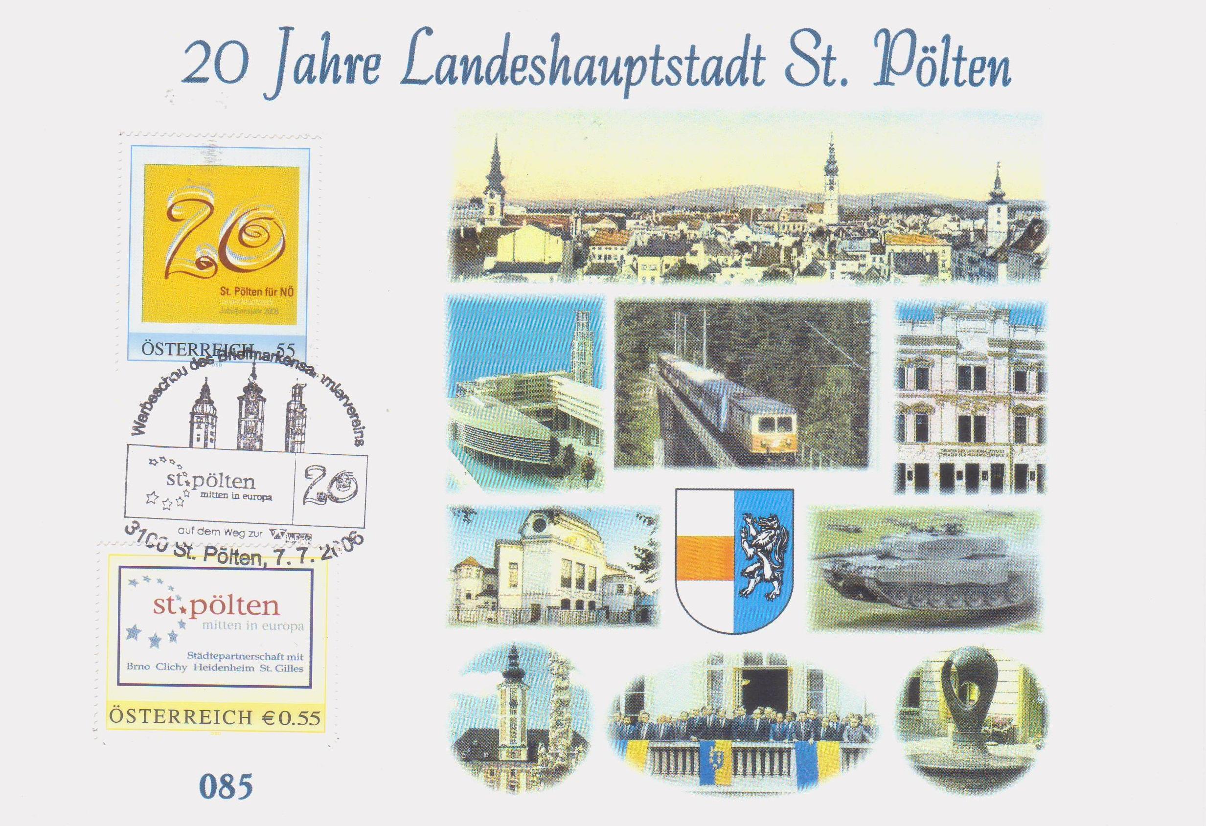 2006 7.-EUR 20 Jahre LH St.Poelten