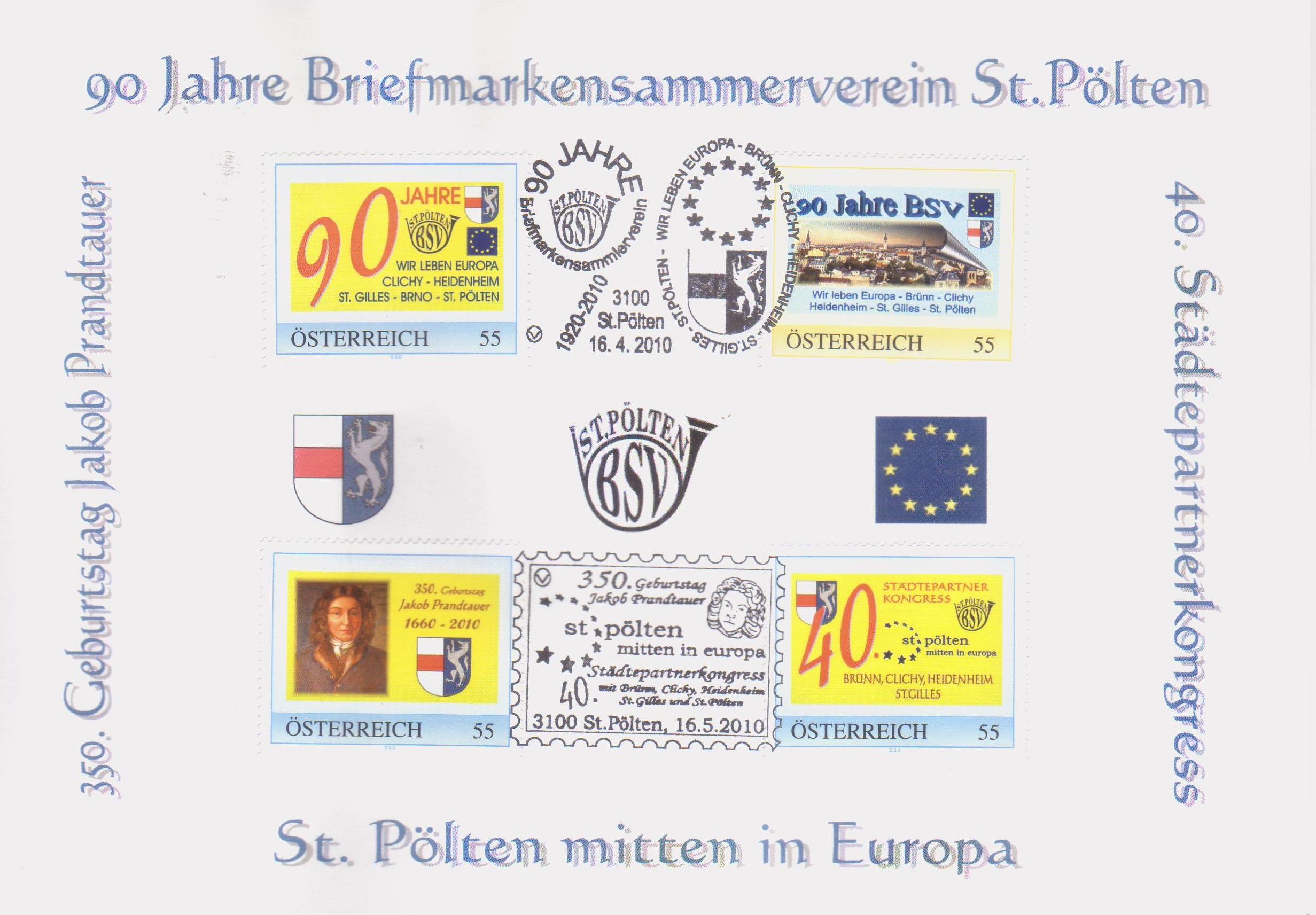 2010 7.-EUR 90 Jahre BSV St.Poelten