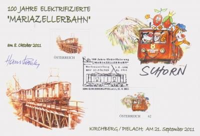 2011 10.-EUR 100 J. el. MZ-Bahn