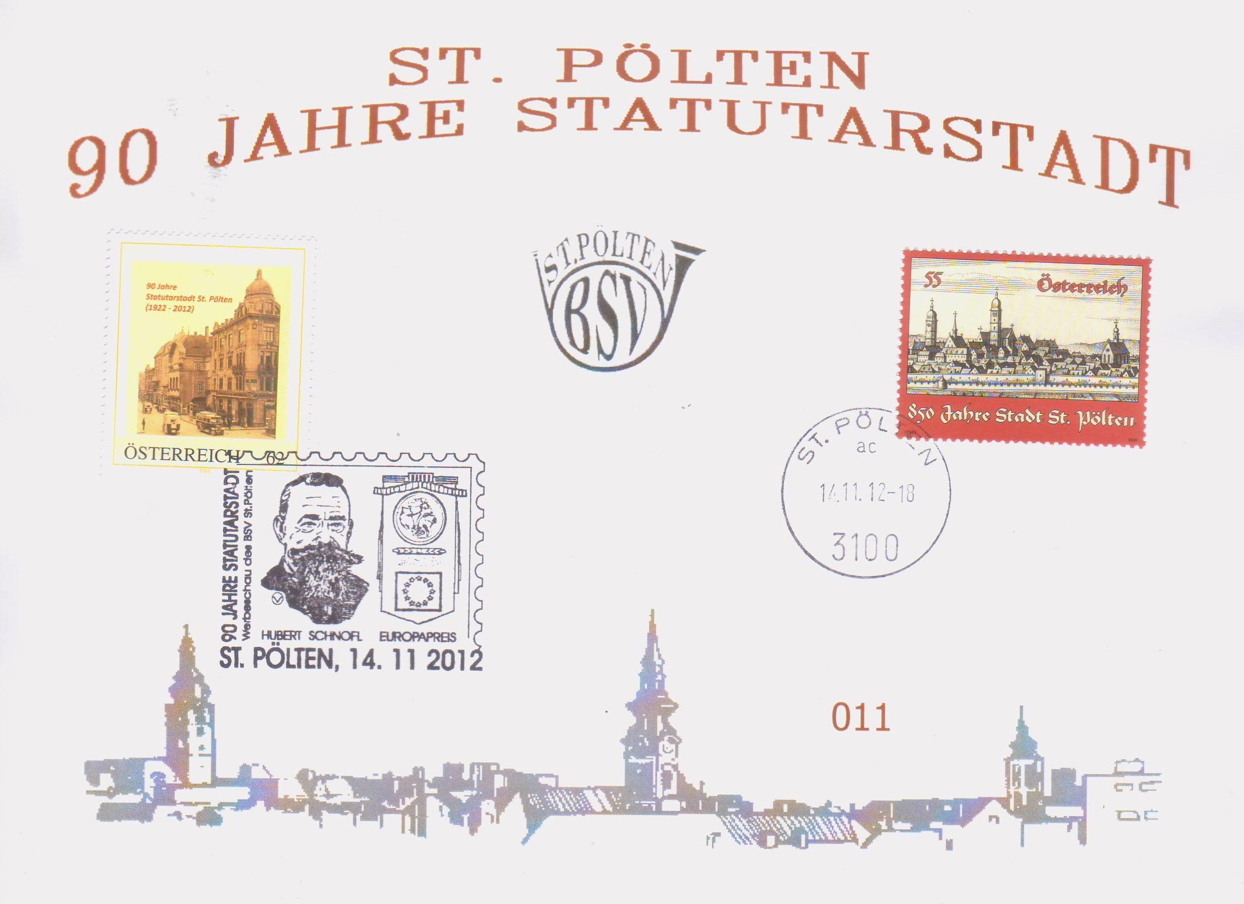 2012 5.-EUR 90 Jahre Statutarstadt